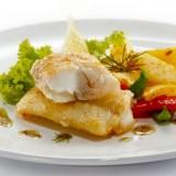 Baccalà fritto con patate e peperoncino