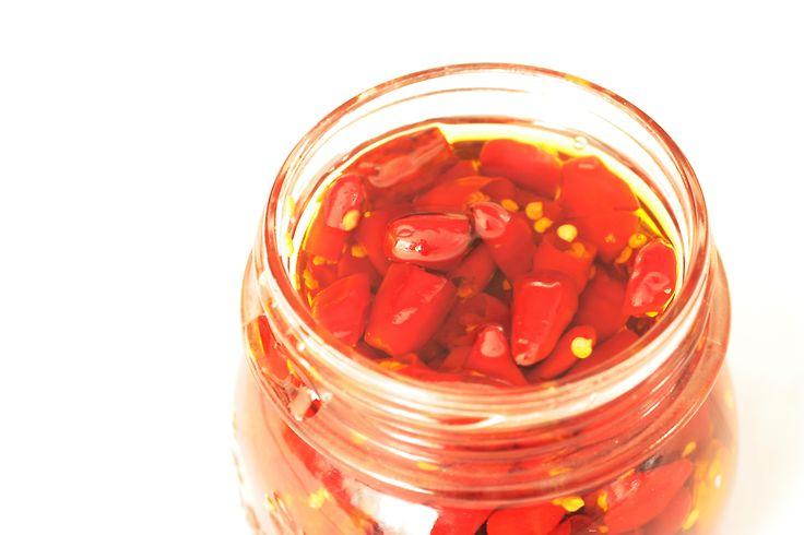 come conservare il peperoncino sott'olio
