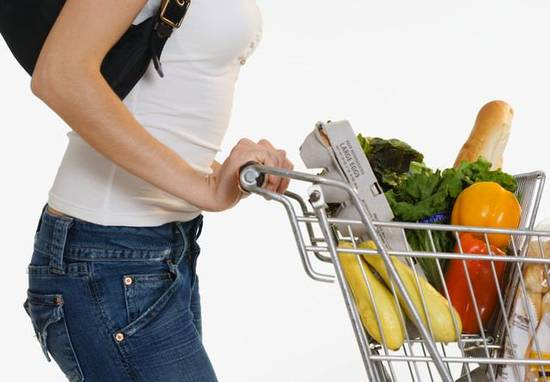 Woman Grocery Shopping --- Image by © Royalty-Free/Corbis