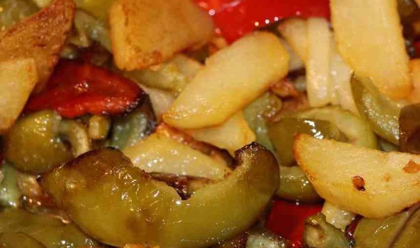 patate e peperoni alla calabrese